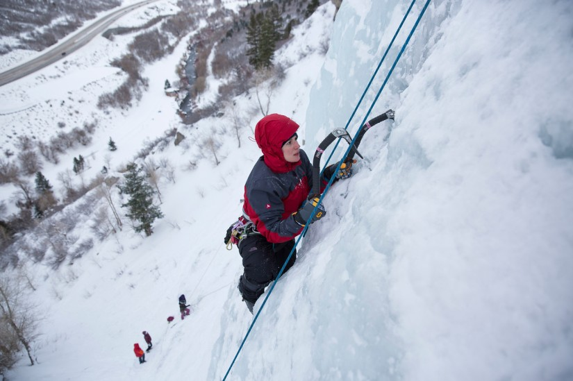 SheJumps Ice Climbing in Provo Canyon