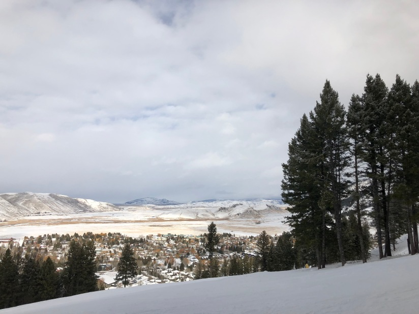 View of the Jackson Hole valley from Snow King ski resort